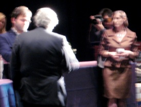 Waiting to speak with the Maestro: with all the excitement, the evening really was a blur! ;)